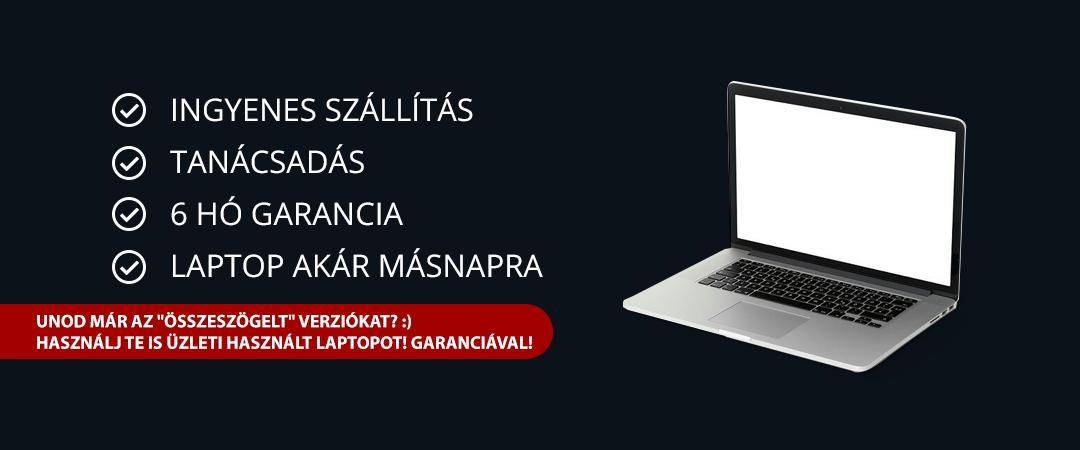 Használt laptop garanciával Dunaújváros környékén