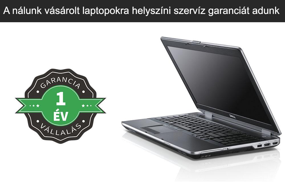 A nálunk vásárolt laptopokra helyszíni szervíz garanciát adunk
